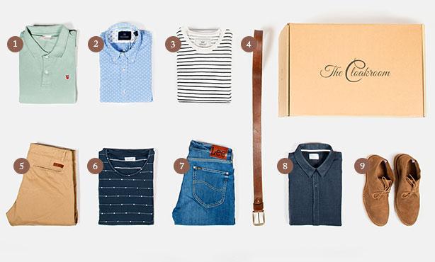 the cloakroom kleding box voorbeeld